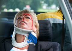 Mujer accidentada