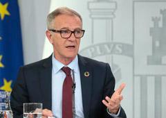 El ministro de Cultura y Deporte, José Guirao, durante su intervención en la rueda de prensa posterior al Consejo de Ministros.