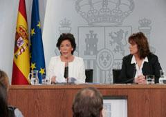 Isabel Celaá y Dolores Delgado