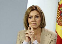 La ministra de Defensa, María Dolores de Cospedal, durante la rueda de prensa posterior al Consejo de Ministros