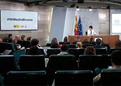 La ministra de Educación y Formación Profesional y portavoz del Gobierno, Isabel Celaá, durante la rueda de prensa posterior al Consejo de Ministros.
