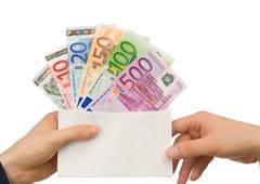 Dinero y sobre