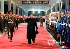 En esta imagen sin fecha divulgada el 27 de abril de 2019, el líder norcoreano, Kim Jong Un, vuelve al pai´s tras una visita a Rusia. Imagen cedida por la agencia de noticias central de Corea del Norte (KCNA)