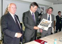 De izda a dcha, Javier Moscoso del Prado, Rafael Catalá, Carlos Gaona y Francisco de Lorenzo. Cedida