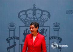 La nueva ministra española de Exteriores, Arancha González, en Madrid, España, el 13 de enero de 2020.