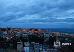 El barrio El Príncipe de la ciudad autónoma española de Ceuta, el 1 de marzo de 2014