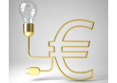 Bombilla y euro