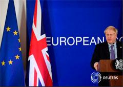 El primer ministro británico, Boris Johnson, durante una conferencia de prensa en la cumbre de líderes de la Unión Europea en Bruselas, el 17 de octubre de 2019.