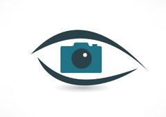 Dibujo de una cámara dentro de un ojo