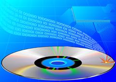 Un cd de donde salen números binarios