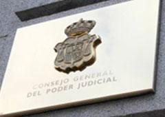 Placa del Consejo General del Poder Judicial