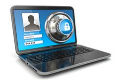 Imagen de un portátil seguro