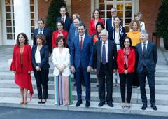 El Presidente con sus Ministros