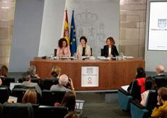 María Jesús Montero, Isabel Celaá y Meritxell Batet