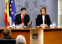 Rafael Catalá y Fátima Báñez