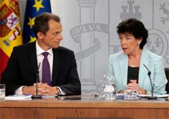 Pedro Duque e Isabel Celaá