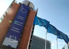 Banderas de la Unión Europea ondean en la sede de la Comisión en Bruselas, el 30 de junio de 2019.