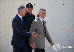 El empresario Francisco Correa sale tras testificar en el caso de corrupción Gürtel en la Audiencia Nacional en San Fernando de Henares, Madrid, España, el 4 de octubre de 2016