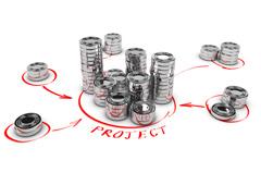 Concepto de crowfunding