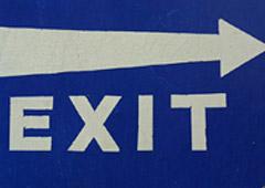cartel con aviso salida