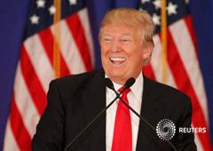 El candidato republicano Donald Trump en una rueda de prensa en Jupiter, Florida, el 8 de marzo de 2016