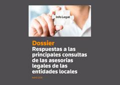 ¿Cuáles son las principales consultas de las asesorías legales de las entidades locales?