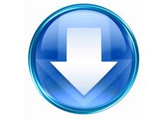 Botón de flecha blanca en fondo azul