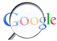 Google con una lupa