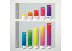 Gráfico de barras de colores