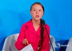 La joven activista Greta Thunberg