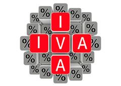 Palabra IVA y símbolos de %