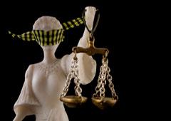 Imagen de la justicia con una venda en los ojos