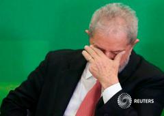 Lula da Silva durante su nombramiento como jefe de gabinete del gobierno brasileño, el 17 de marzo de 2016