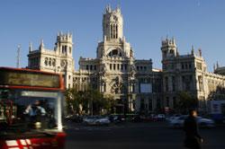 Vistas de el palacio de telecomunicaciones de madrid