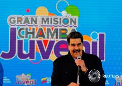 El presidente venezolano Nicolás Maduro, pronuncia un discurso ante jóvenes venezolanos en Caracas, el 26 de enero de 2019