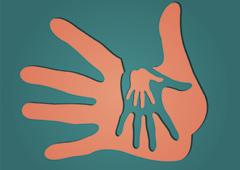Siluetas de unas manos