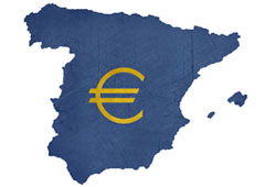 Mapa de España y euros