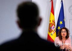 La ministra de Hacienda, María Jesús Montero, en una conferencia de prensa tras un consejo de ministros en Madrid