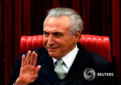 Temer durante la ceremonia de toma de posesión en Brasilia, el 12 de mayo de 2016