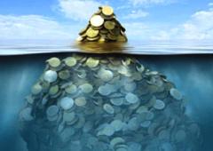 Montones de monedas