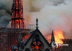 La catedral de Notre Dame de París se incendia. 15 de abril de 2019