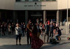 flashMob Juzgados de Plaza de Castilla