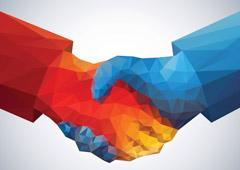 Acuerdo estrechando manos