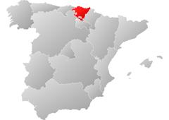 Comunidad País Vasco en rojo