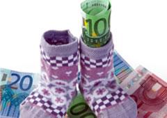 Patucos y dinero