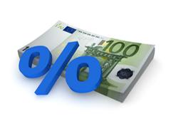 Tanto por ciento sobre billetes de 100 euros