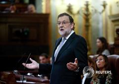 Rajoy durante su intervención en el debate de investidura en el Congreso de los Diputados, el 2 de marzo de 2016