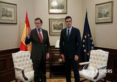 Rajoy y Sánchez en una reunión en Madrid, el 12 de febrero de 2016
