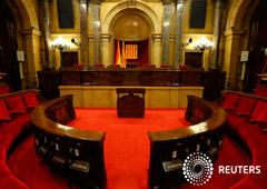 FOTO DE ARCHIVO: La cámara del Parlament en Barcelona, España, el 9 de octubre de 2017.