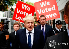 Noticias Principales 23 de julio de 2019 / 11:18 / hace 41 minutos Boris Johnson, a punto de ser el nuevo primer ministro británico Por Kylie MacLellan 2 MIN. DE LECTURA Boris Johnson, candidato al liderazgo del Partido Conservador británico, deja su of